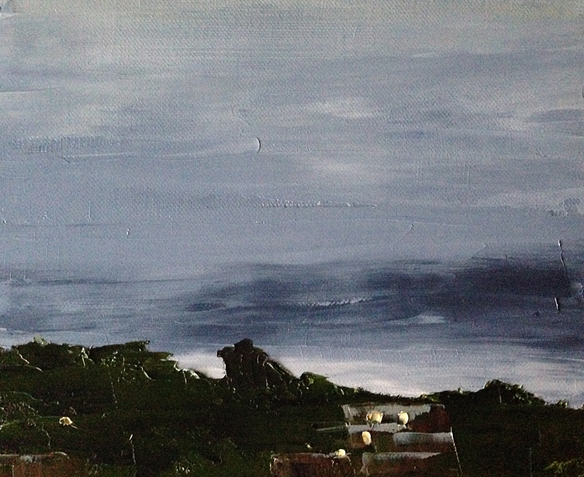 June 11, 5:36am, 19/30 8 x 10, oil on canvas.