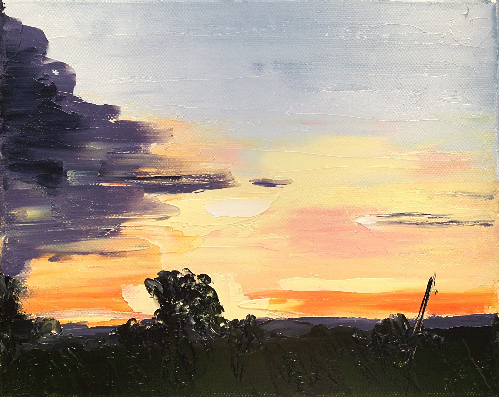 June 15, 5:35am, 23/30 8 x 10, oil on canvas.