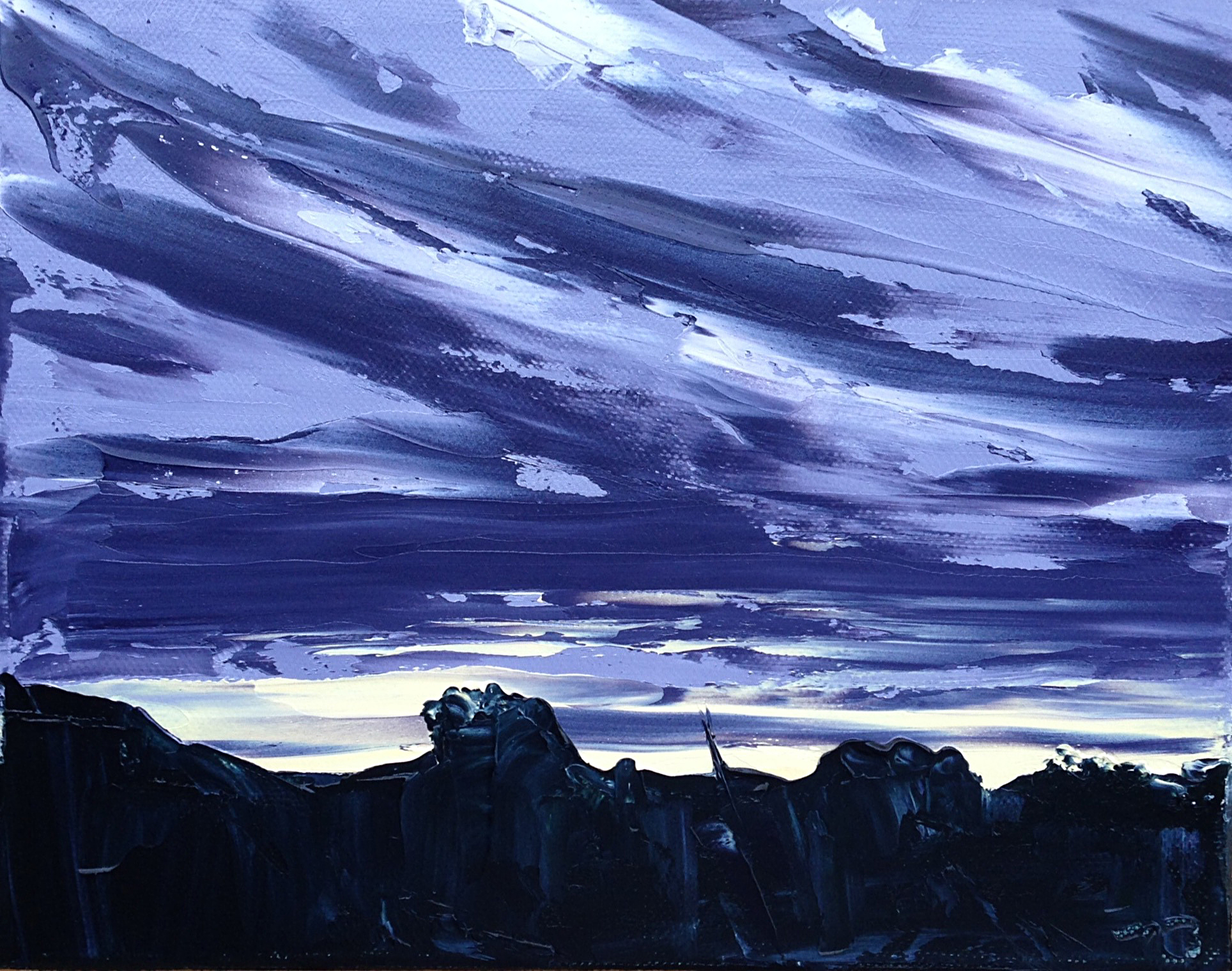 June 21, 5:36am, 29/30 8 x 10, oil on canvas.