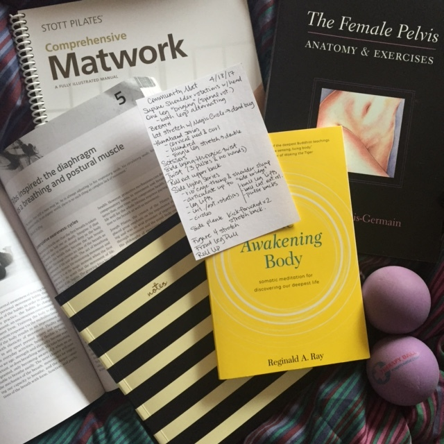 notes for class #bodynerd #allthebooks