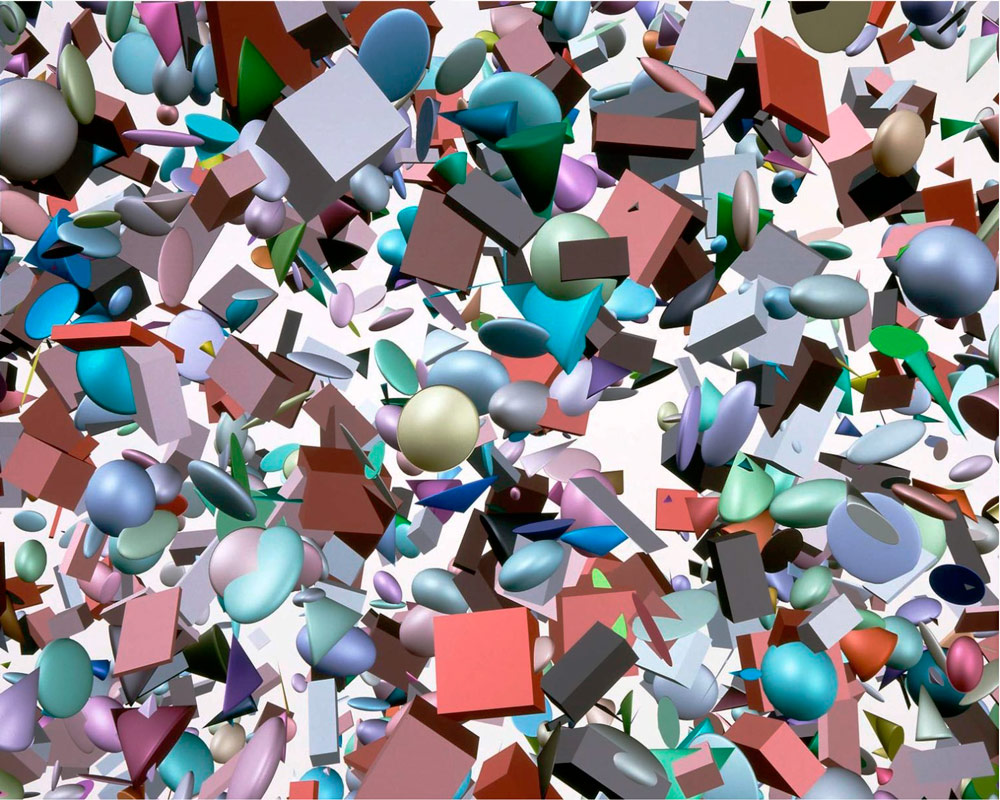 """""""Geometric Primitives"""" by Shelley Lake (1984, Digital Productions)"""
