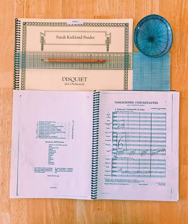 """Took a break from Instagram to get married 😄 but back at it! The Ridgefield Symphony Orchestra's 2019-2020 season, """"American"""", kicks off next weekend with a program of @sksnider, Ginastera, and Dvorak. Very excited to perform this music. #scorestudysaturday"""