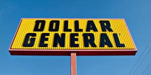 Dollar General Corp. signage is displayed outside of a store in Princeton, Illinois, U.S., on Tuesday, Sept. 3, 2013. Dollar General Corp. is scheduled to release earnings figures on Sept. 4. Photographer: Daniel Acker/Bloomberg via Getty Images