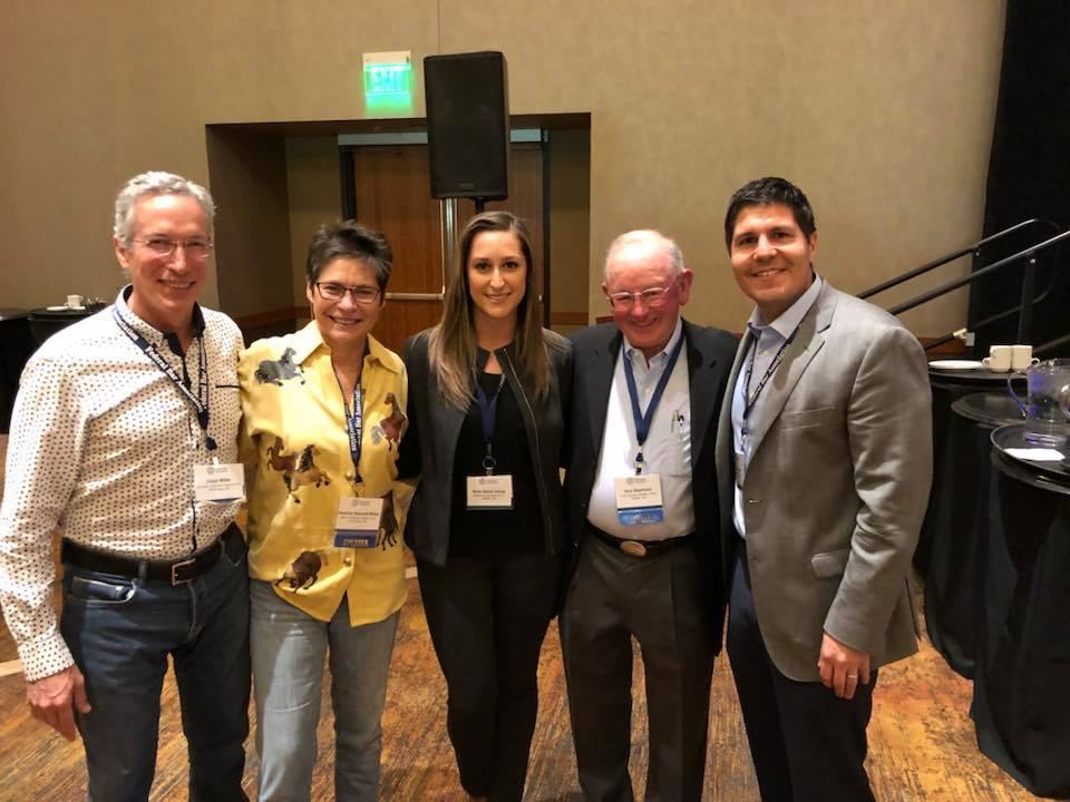 Bree, at center, with Lloyd Miller, Heather Kendall-Miller, Gabe Galanda and Eric Eberhard, at the FBA Annual Indian Law Conference in Scottsdale on April 4