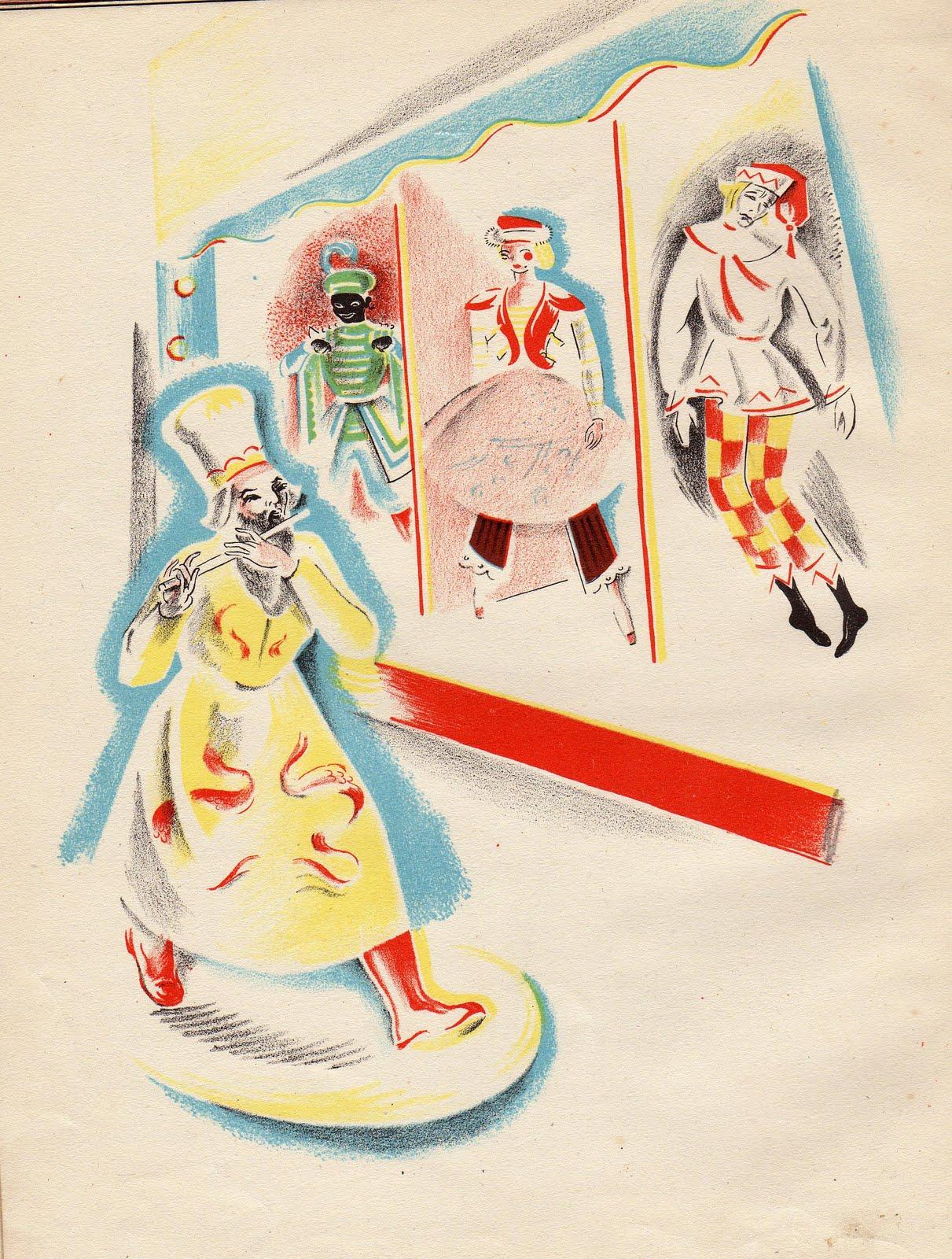 The Russian folk puppet Petrushka