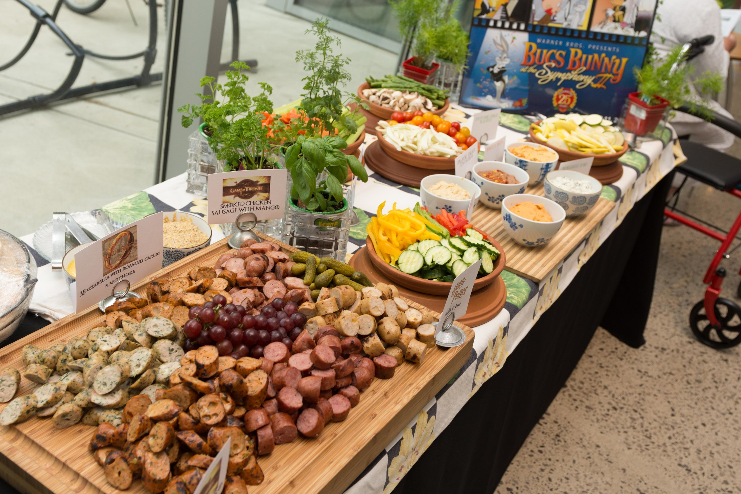 Themed food displays - Thanks to Make It Fabulous Catering