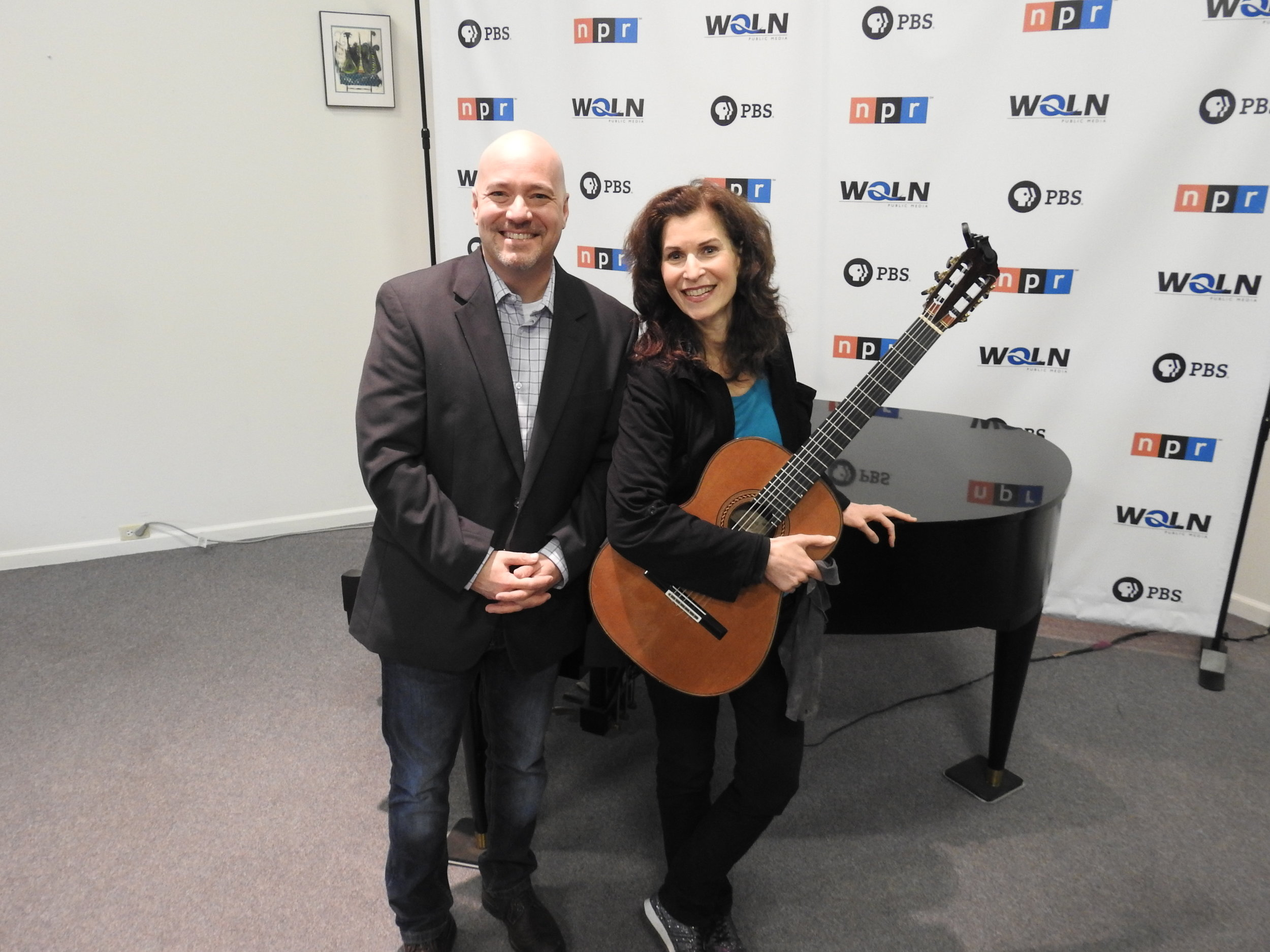 Host Brian Hannah and GRAMMY winning guitarist Sharon Isbin