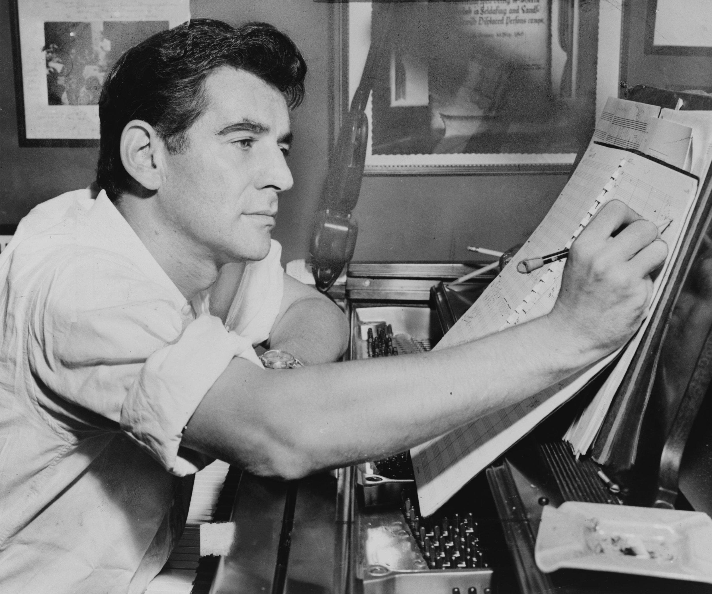 Composer Leonard Bernstein
