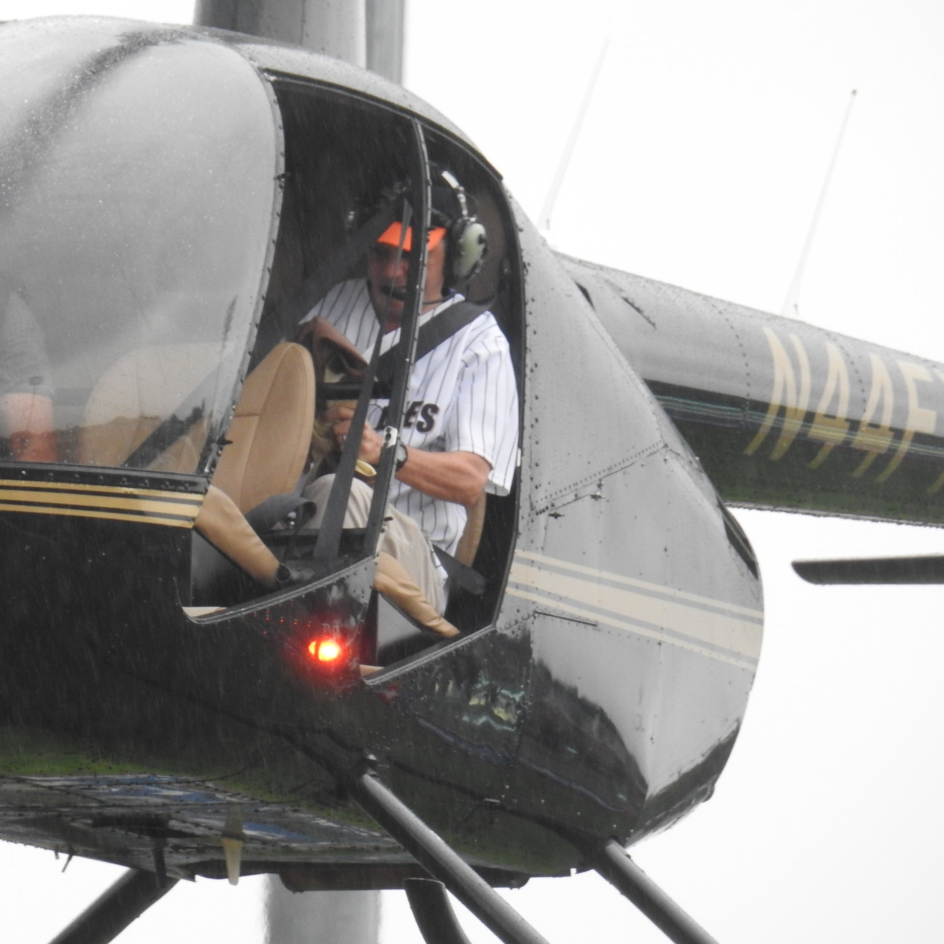 Golf Ball Drop - Yep - that's Music Director Daniel Meyer in a helicopter!