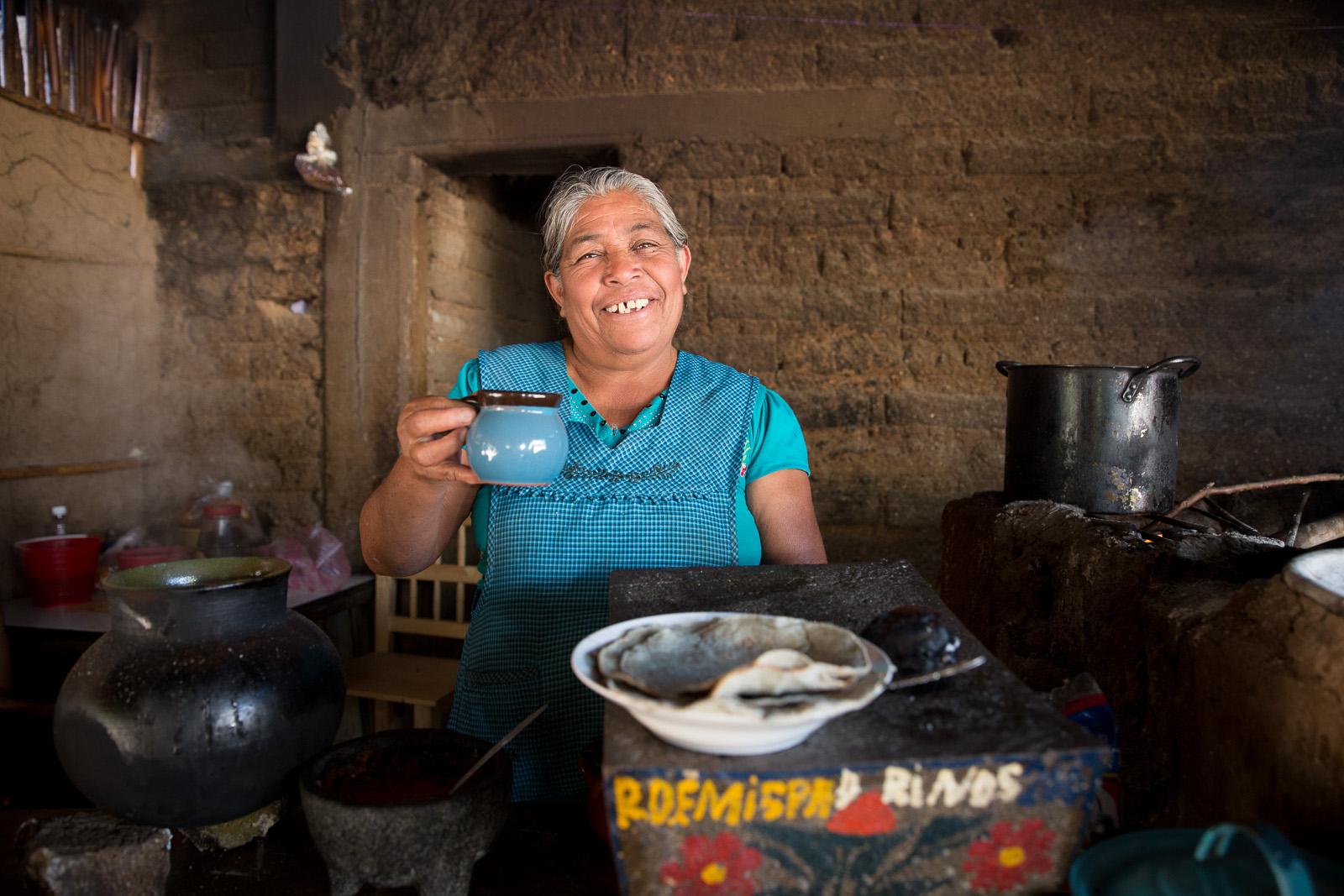 Hot Chocolate, Comida Campirana, Hierve el Agua, Oaxaca, Mexico