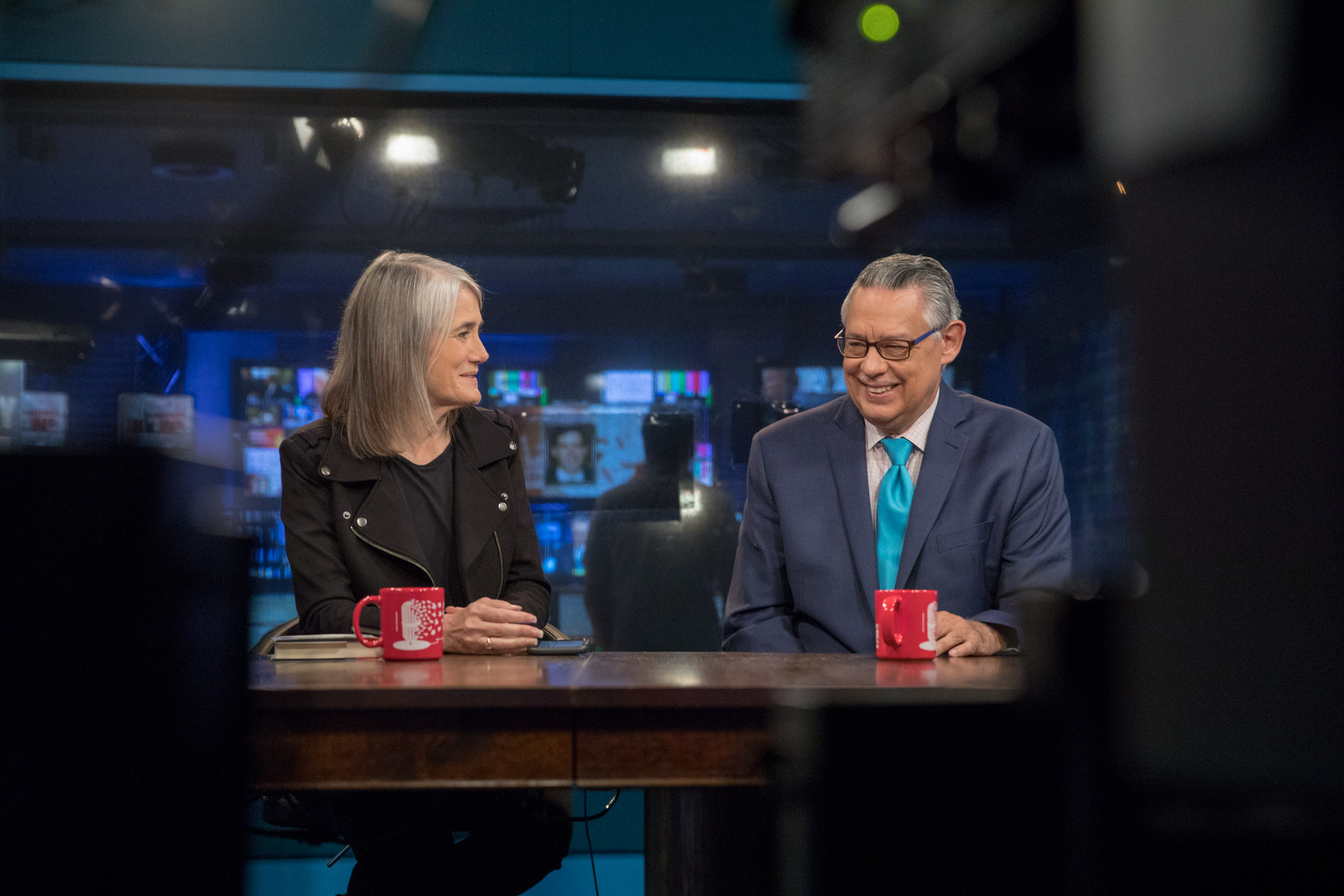 Amy Goodman and Juan González, Democracy Now Studios, NYC