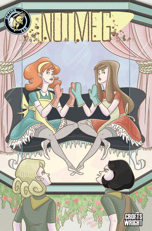 "NUTMEG TPB Vol. 1    July 2015    ""Early Fall: Taste Buddies""    Collecting issues 1-3 of Nutmeg, we follow 8th-grader Poppy Pepper's partnership with new girl Cassia Caraway and their plan to sabotage rich girl rival Saffron Longfellow's Brownie fundraiser, taking their first steps toward a life of crime!    Art: Jackie Crofts    Colors/Lettering: Jackie Crofts    Script: James F. Wright"