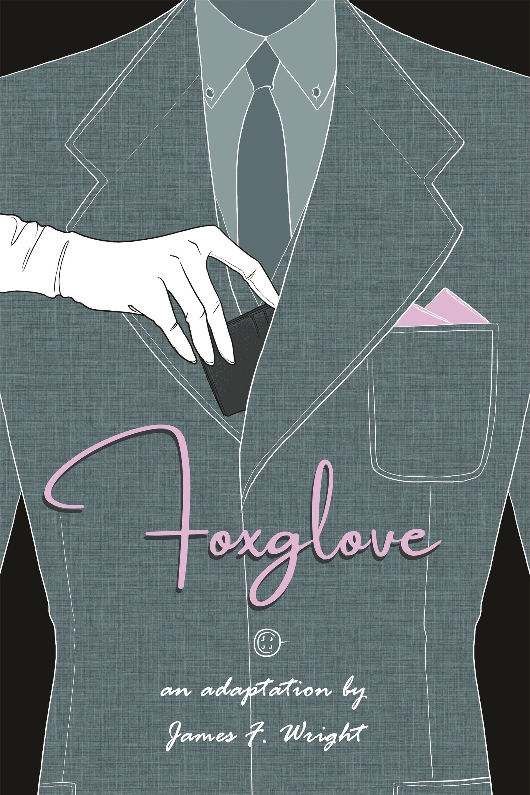 FOXGLOVE    November 2018    A zine adaptation of an out-of-print memoir I found at a Goodwill in 2017 about a mid-20th-century seamstress who moonlighted as a pickpocket, stealing from the very suits she designed in her day job.    Concept: James F. Wright    Cover Art: Josh Eckert