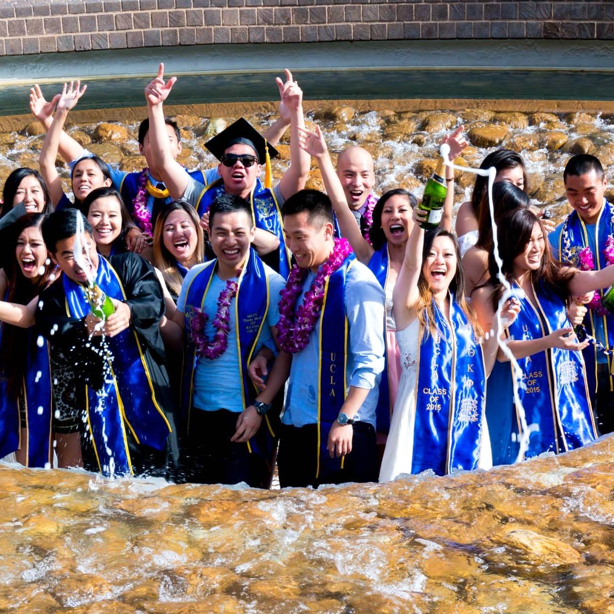 6.14.2015 Inverted Fountain Graduation Tradition with APIG