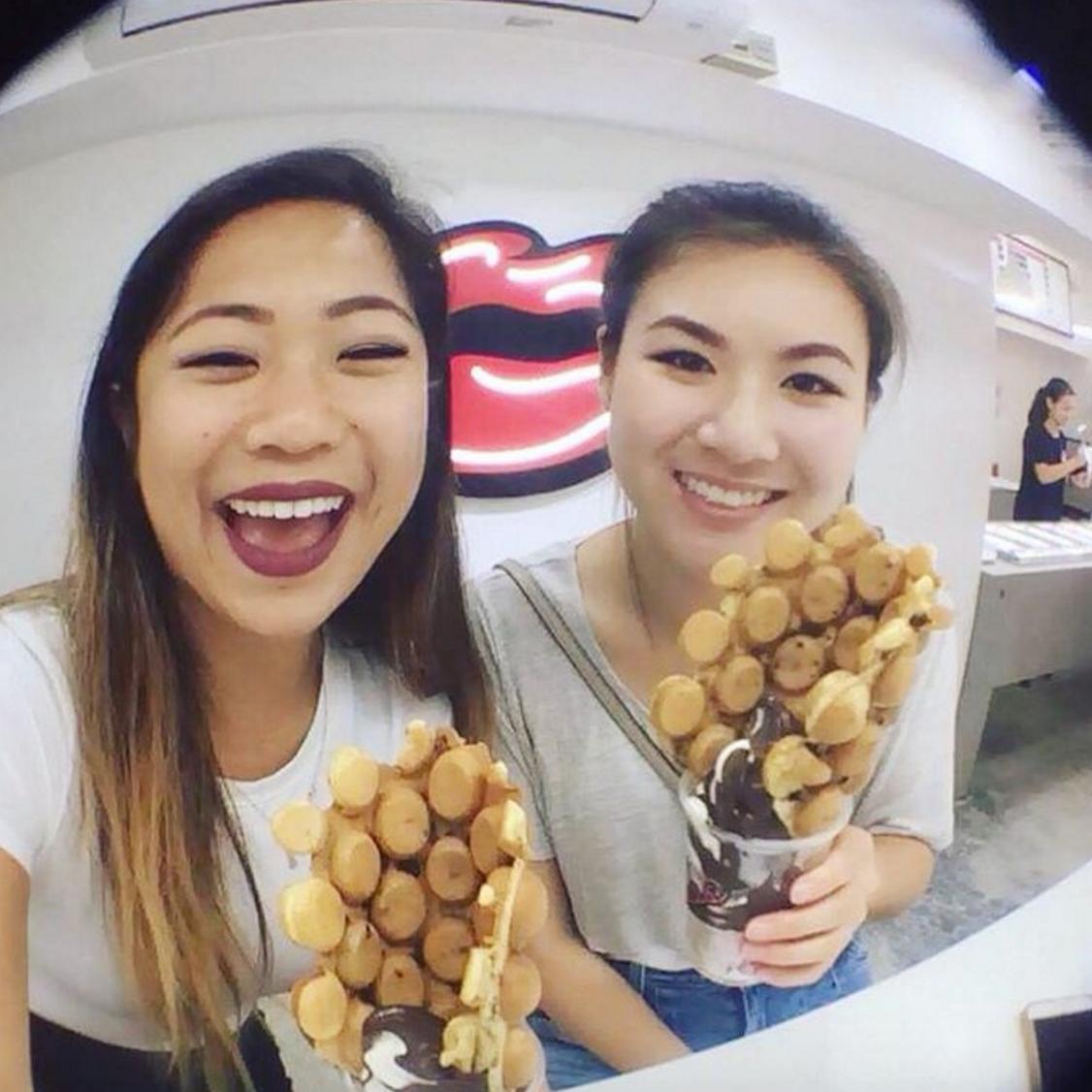 Sisters in Hong Kong