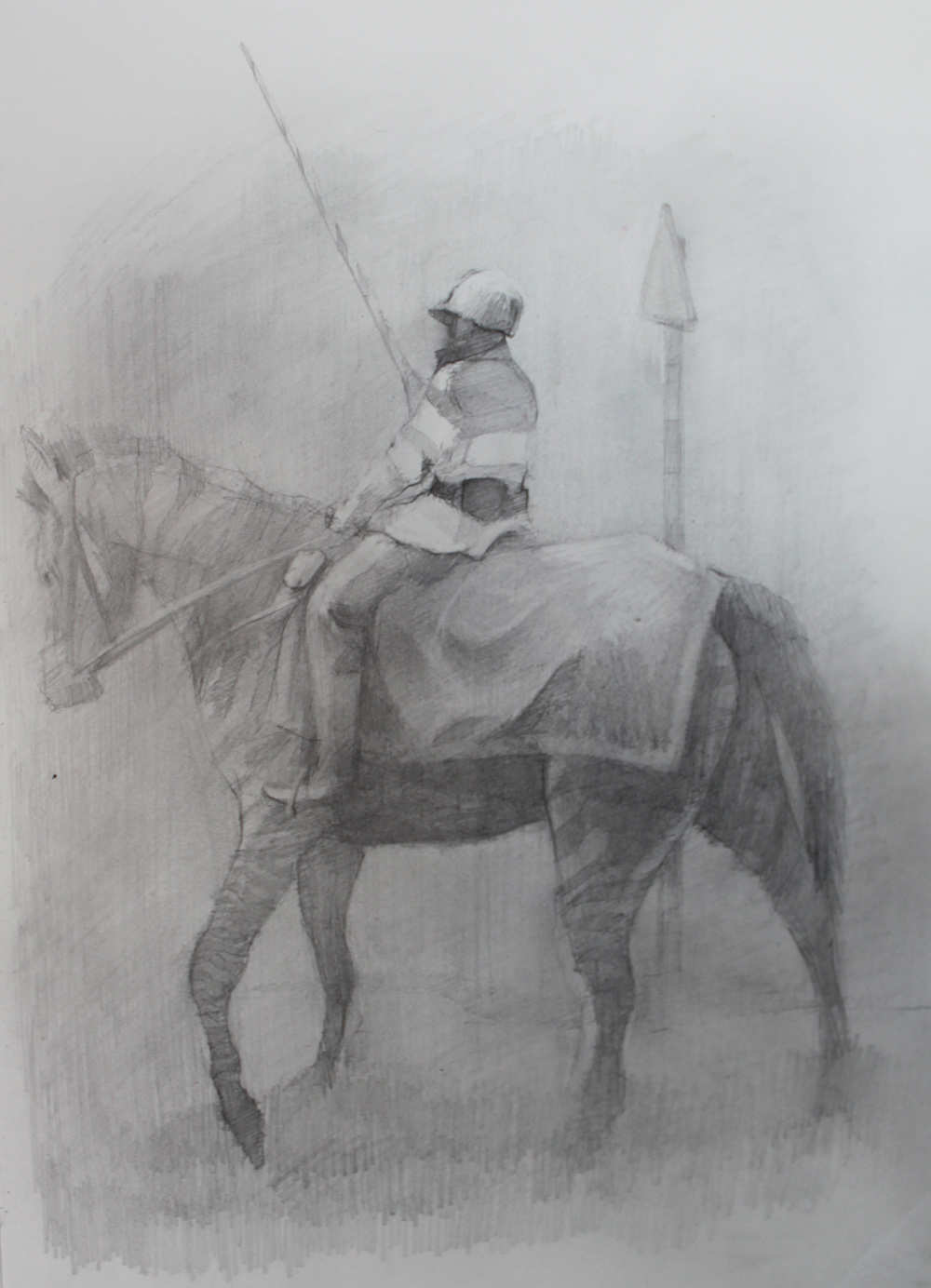 Rider, Pencil on paper, 29x21cm, 2010