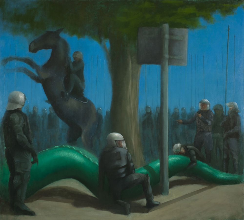 St Georses Battalion Vs The Dragon, Oil on canvas, 200x180cm, 2012