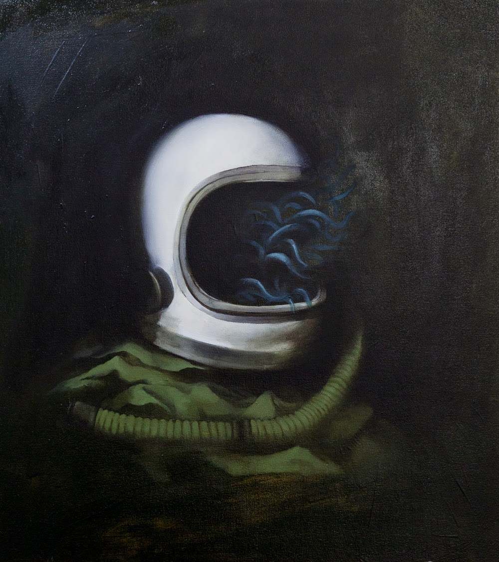Medusa VI, 40x45cm, Oil on board, 2014