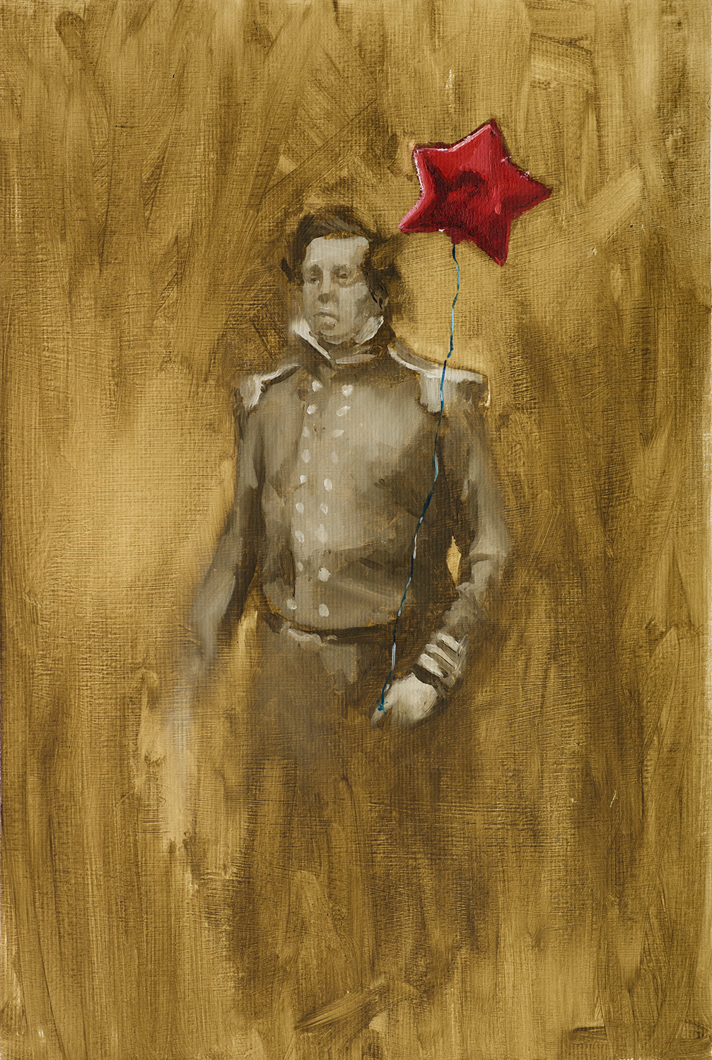 Officer II, Oil on Paper, 56x42cm, 2014