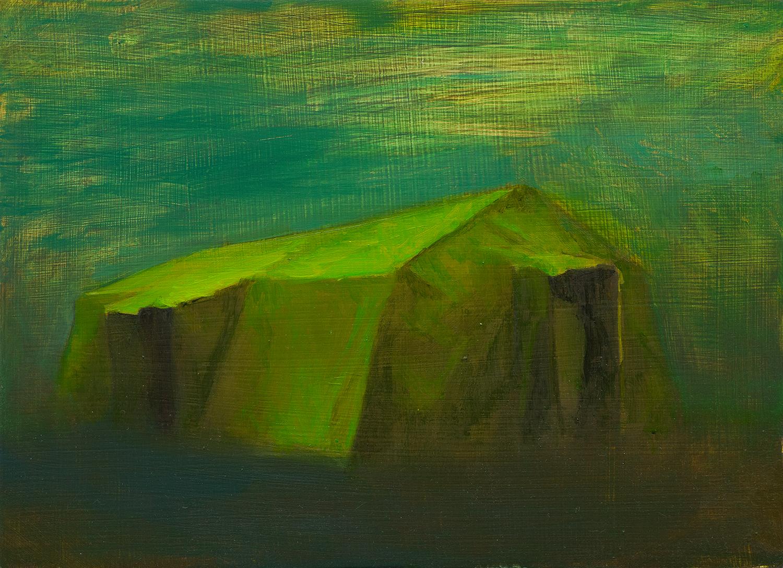 Zelt I, Oil on Wood, 21x29cm, 2014
