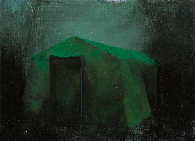 Zelt III, Oil on Wood, 21x29cm, 2014
