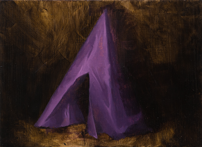 Zelt IV, Oil on Wood, 29x21cm, 2014