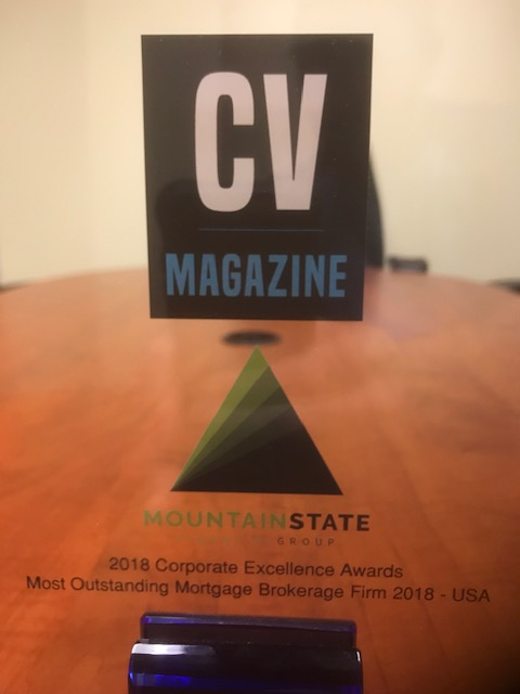 Rewarded the  Most Outstanding Mortgage Brokerage Firm 2018 - USA  from CV Magazine's 2018 Corporate Excellence Awards