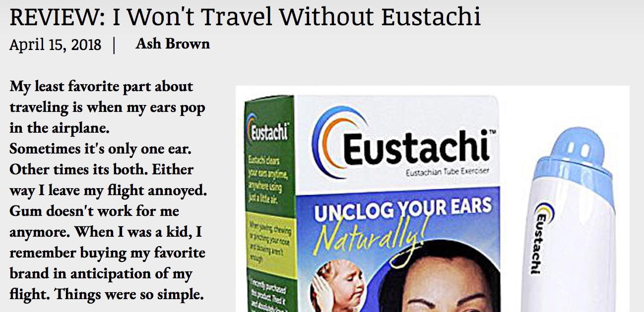 Blog review on using Eustachi for travel