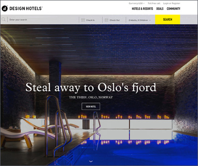 search design hotels of the world to find that special place