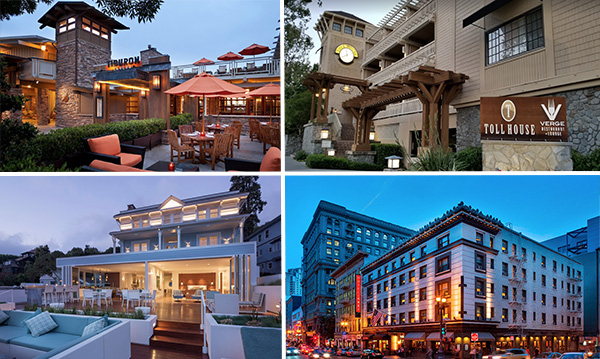 a few boutique hotel gems in northern California Sausalito, Tiburon, Los Gatos and san francisco good for meeting and events