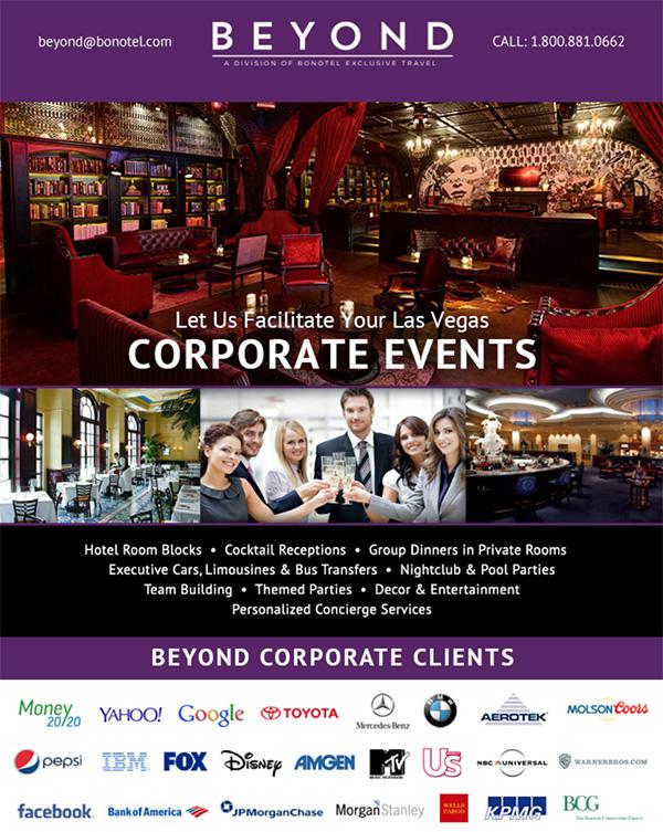 Beyond Bonotel a premier las vegas coporate events planner
