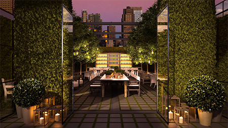 New York The Times Square EDITION - The Times Square EDITION, located at 701 Seventh Avenue on the corner of 47th Street, features 452 guest rooms with four levels of public space including a 5,000 sq. ft. performance venue, a 1,900 sq. ft. meeting studio, state-of-the-art fitness center and a lobby lounge at check in level. A 5,800 sq. ft. beer garden and event deck overlooking Times Square. The Location thing.