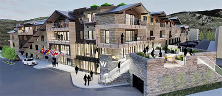 W Aspen - Aspen offers 88 guestrooms (including six suites) and 11 W-branded fractional residences plus a 1,600 square foot outdoor patio and a 12,000 square foot rooftop bar and pool, overlooking Aspen Mountain. Cool. Opening 2019.