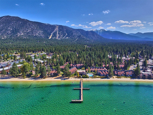 Lakeland Village is an expansive retreat right on the shores of Lake Tahoe.