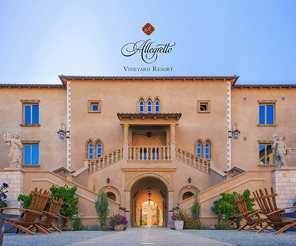 ranked #6 by Conde Naste in Northern California Allegretto Vineyard