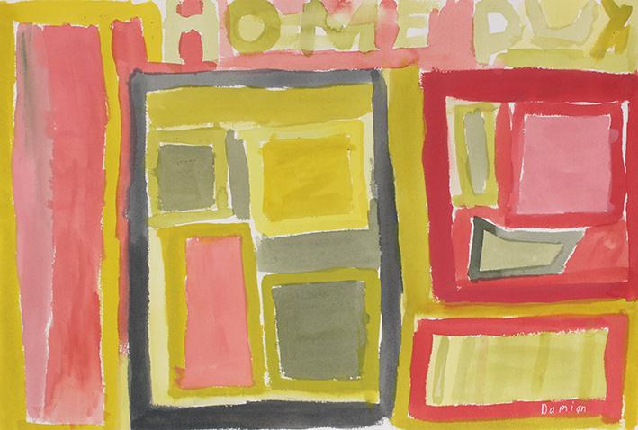 Damian Showyin, Pastel Landscape, gouache on board, 20x35cm