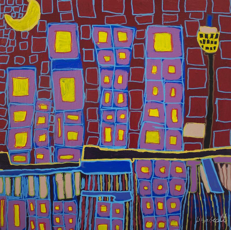 untitled (Barangaroo), 2016, acrylic and posca on canvas