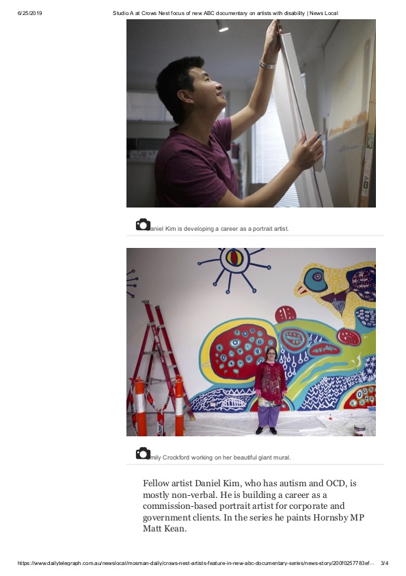 Studio A at Crows Nest focus of new ABC documentary on artists with disability _ News Local3.jpg