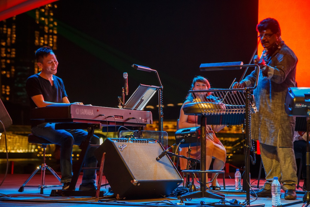 Red Dot Radio performance at Esplanade Waterfront
