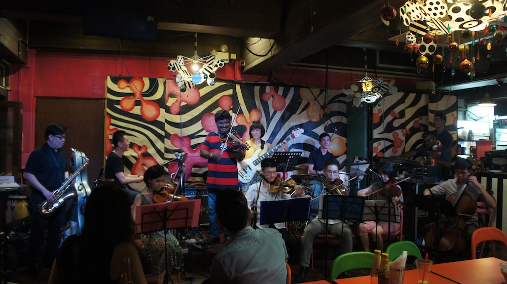 Composer for Large Ensembles performance at Blujaz Cafe