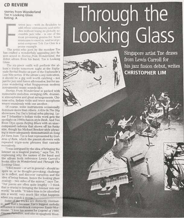 2011 The Business Times review of album   Stories from Wonderland (*TO ensemble was known as Tze n Looking Glass in 2011)