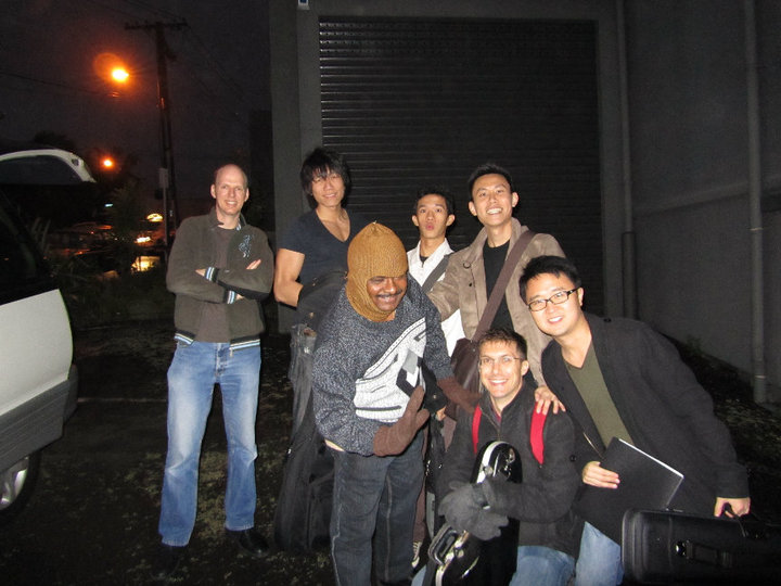 The ensemble enjoying their time in Auckland.