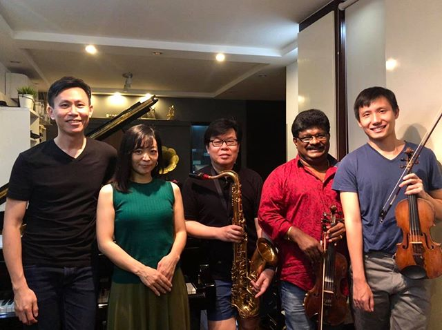 Just 1 more day to concert Memories of 2055!  This concert features all new music by music director/resident composer Tze Toh, and soloists Lazar T.Sebastine (Carnatic violin), Teo Boon Chye (sax), Tze Toh (piano) and Izumi Sado (soprano) (all the way from Japan!) and also our first collaboration with renowned violinist Loh Jun Hong.  We have been working hard on the music, having fun, exploring new ideas. Our music-director Tze Toh has taken a particularly long time to develop the concept, themes for this concert and we are excited to sharethe music with you.  We look forward to seeing you this Friday!  Info/tickets: https://memoriesof2055.peatix.com/