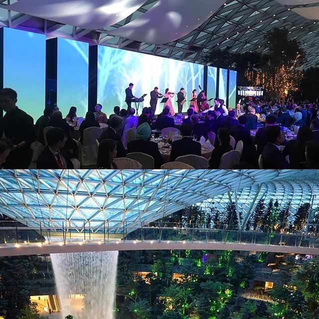 Had a amazing time performing for the first ever event at the stunning new Jewel at Changi Airport, for the Changi Airlines Awards 2019, featuring original music by our music director/composer Tze Toh, with TO ensemble soloists Lazar T.Sebastine (Carnatic violin), Teo Book Chye (tenor sax), Izumi Sado (soprano), Audrina Goh (violin), Miyata Masato (acoustic bass) and Tze (piano).