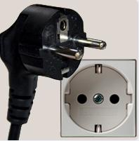European style 2 pin wall socket