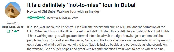 Wander with nada tours in dubai guest reviews