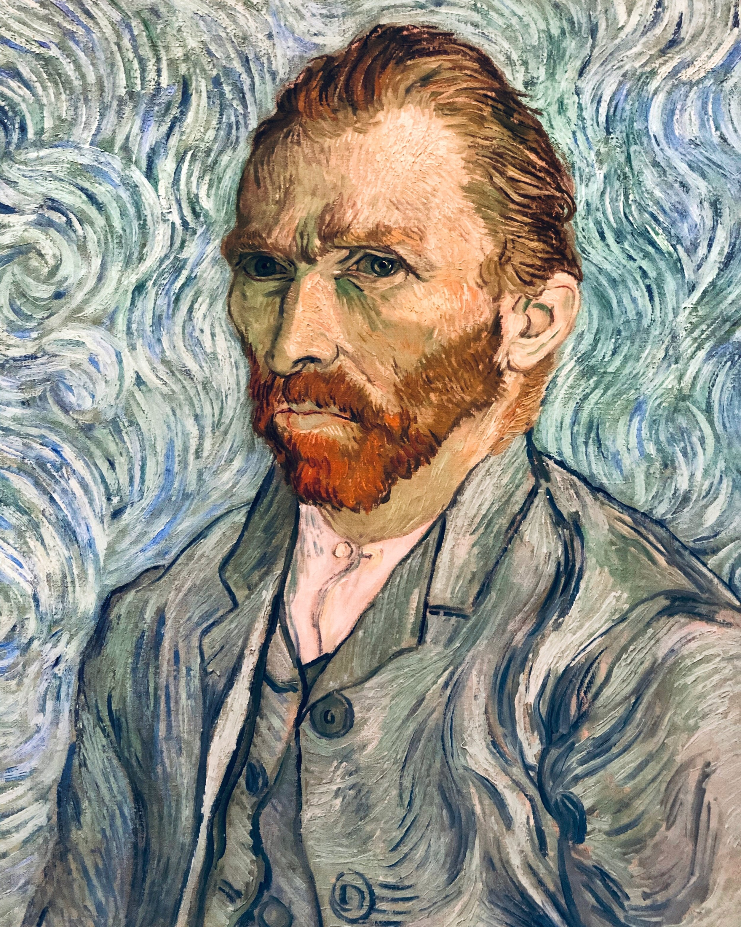Vincent Van Gogh, 1889 at the Musee D'orsay in Paris.