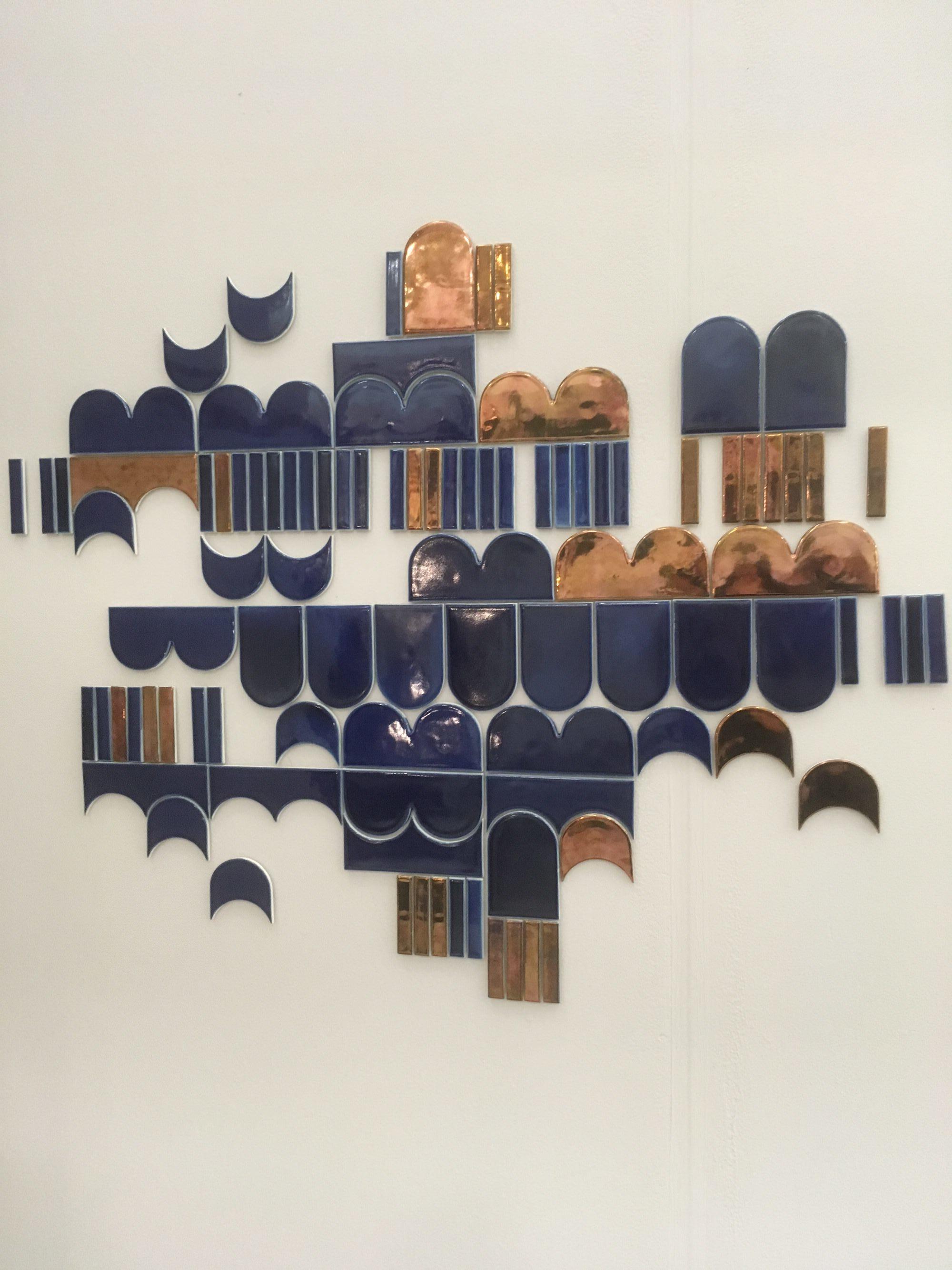 a beautiful tile arrangement by @laura_ittkonen