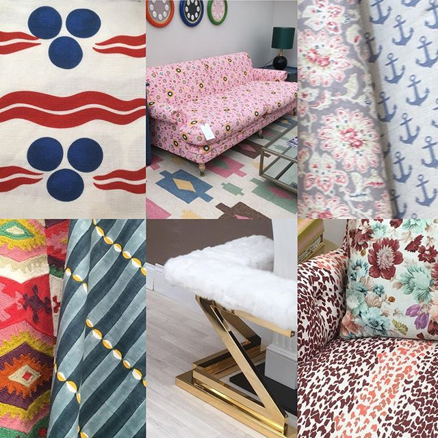 Next stop @decorex_international fabric heaven. Spotted some gorgeous new fabrics by @parkerandjules loved their mix of florals and animal prints. @ottolinedevries stand showed her beautiful interpretation of an antique design that looked fantastic. I have followed @annaspiro for years and loved seeing her fabric on the @houseandgardenuk stand. @mollymahonblockprinting new Luna fabric is a huge hit and I loved the pattern combinations @sarahhardaker I am now working on creating a fireplace just so I can have a pair of these wonderful fenders by @fionawilbraham A very big ✔️ for interior and in particular fabric sourcing, such an inspiring day.  #interiordesign #decorex2018 #fabrics #upholsteryfabric #interiordecor #interiorinspo
