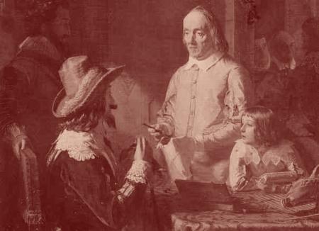 Le roi anglais Charles 1er écoute William Harvey